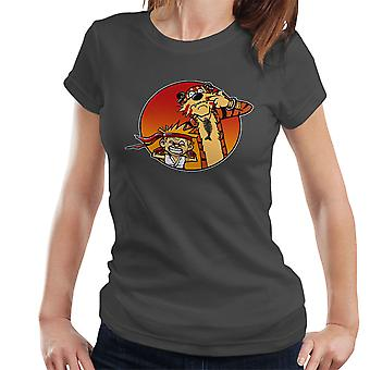 Gaden Pals Street Fighter Calvin og Hobbes kvinder T-Shirt