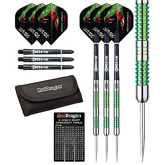 Peter Wright Snakebite Mamba Tungsten Steel Darts with Flights, Shafts, Wallet & Red Dragon Checkout Card