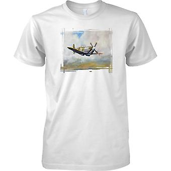 Spitfire In The Sky - Classic WW2 Fighter Aircraft - Kids T Shirt