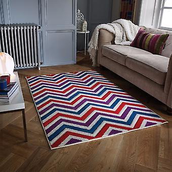Portland 139 W rectángulo trullo rojo púrpura alfombras alfombras modernas