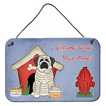 Dog House Collection Mastiff Brindle White Wall or Door Hanging Prints