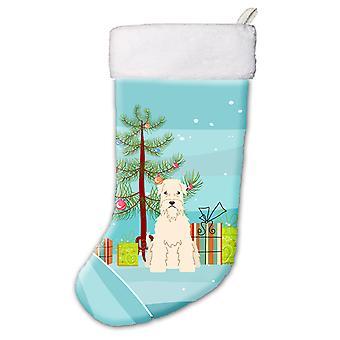 Árvore de Natal feliz Soft revestido Wheaten Terrier meia de Natal