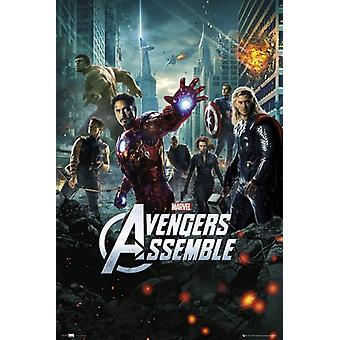 Les Vengeurs - une seule feuille 24 x 36 affiche impression affiche Poster
