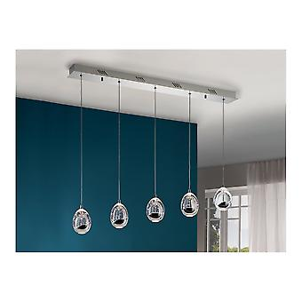 Schuller Kitchen Island LED Chrome And Glass Orb LED Light