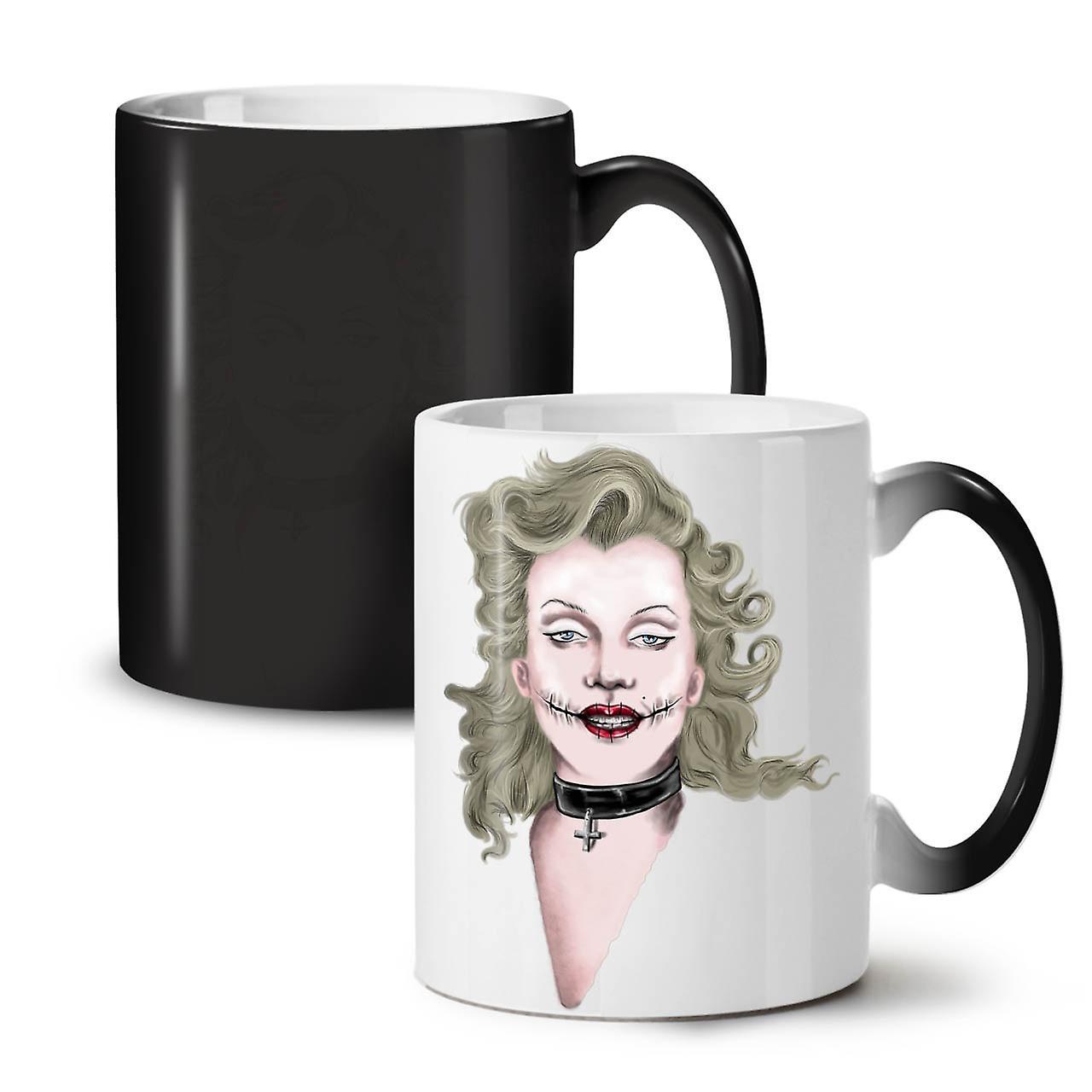 Tea Colour Ceramic Woman Art 11 Famous New Mug OzWellcoda Coffee Black Changing T1JcFKl