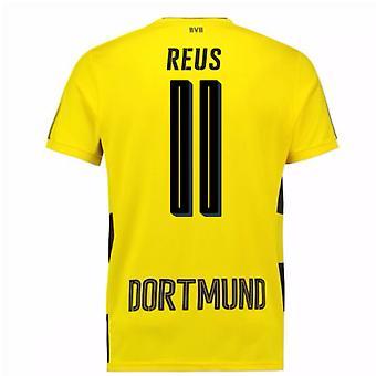 2017-18 Borussia Dortmund Home Short Sleeve Shirt (Reus 11)