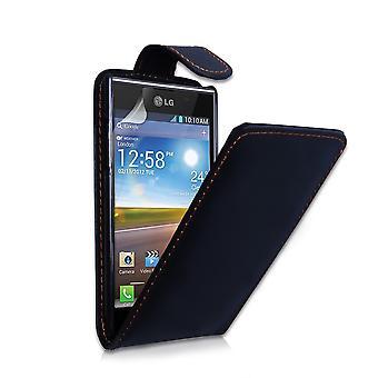 Yousave Accessories LG Optimus L7 Leather-Effect Flip Case - Black
