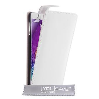 Samsung Galaxy Note 4 Leder-Effekt Flip Case - weiß
