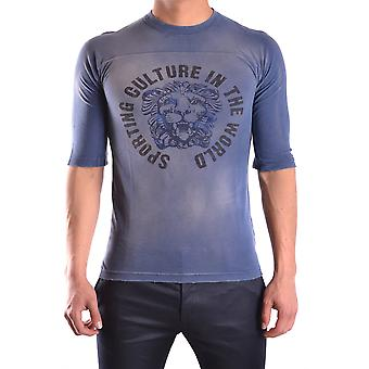 Balmain men MCBI241004O Blau cotton T-Shirt