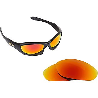 Monster Dog Replacement Lenses Black & Ruby Red by SEEK fits OAKLEY Sunglasses