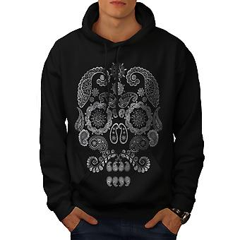 Face Of The Skull Men BlackHoodie | Wellcoda