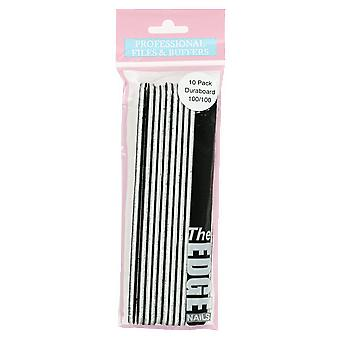 The Edge Nails Duraboard Files (10 Pack) 100/100