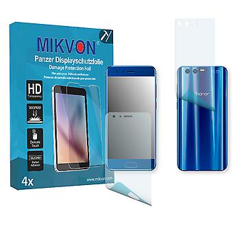 Honor 9 Premium the front / the reverse Screen Protector - Mikvon Armor Screen Protector (Retail Package with accessories) (2x FRONT / 2x BACK) (intentionally smaller than the display due to its curved surface)