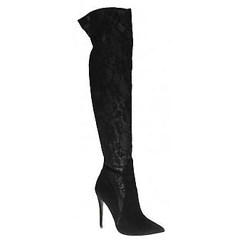 Anne Michelle Womens/Ladies Over The Knee Lace Boots