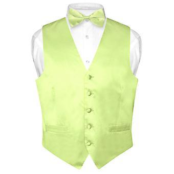 بياجيو الرجال سترة اللباس الحرير & القوس التعادل الصلبة BowTie مجموعة