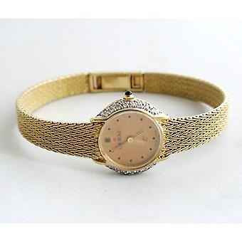 Yellow Gold diamond watch