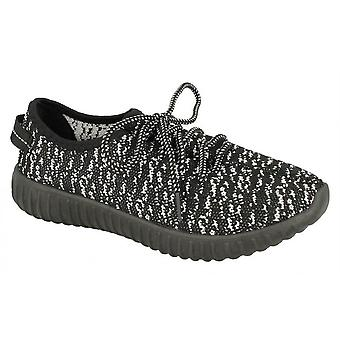 Ladies Womens New Textile Lace Up Tone Up Gym Running Trainers Shoes