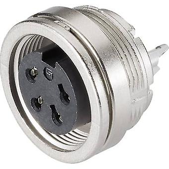 Binder 09-0312-00-04 Miniature Round Plug Connector Series 581 And 680 Nominal current (details): 6 A Number of pins: 4