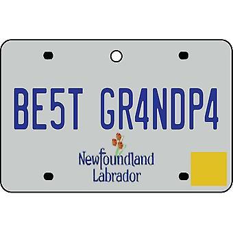 NEWFOUNDLAND AND LABRADOR - Best Grandpa License Plate Car Air Freshener