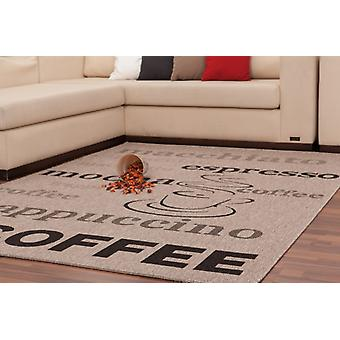 Modern carpets coffee flat pile designer new OVP special grey black