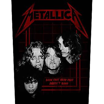 Metallica Back patch Bang That Head Band Logo new Official sew on 36cm x 28cm