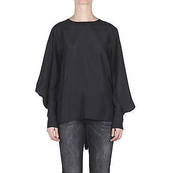Jucca ladies J2712009 black silk blouse