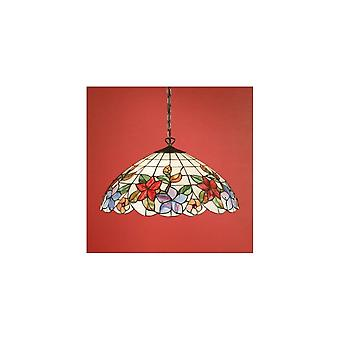 Interiors 1900 Tv152SHL + SU02/3 Country Border 3 Light Tiffany Ceilin