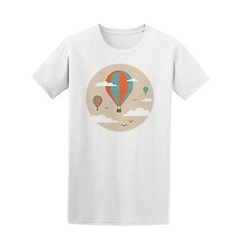Hot Air Balloons & Birds At Sky Tee Women's -Image by Shutterstock