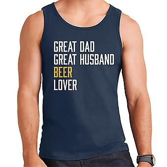 Great Dad Great Husband Beer Lover Men's Vest