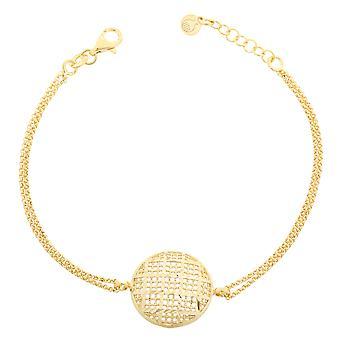 Orphelia Silver 925 armband goud dubbele ketting cirkel ZA-7189/G