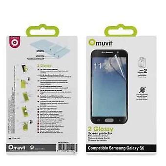 Muvit glossy skærm beskyttelse film 2 stykke til Samsung Galaxy S6