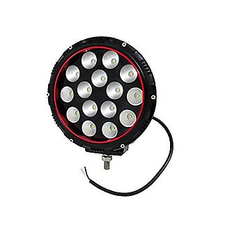 Anzo USA 861182 Off Road LED Light 8 in. Round Clear Lens/Black Housing Red Bezel White Light Color Off Road LED Light
