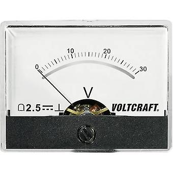 Analogue rack-mount meter VOLTCRAFT AM-60X46/30V/DC 30 V Moving coil