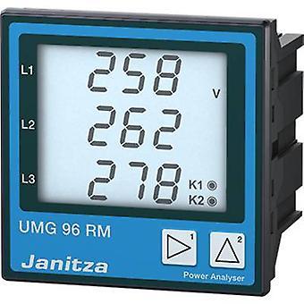 Janitza UMG 96RM-P Universal de medição dispositivo UMG96RM-P, Profibus L-n: 10-300 VAC VACL-l: 18-520