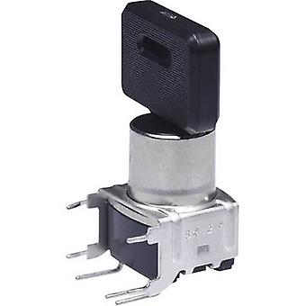 NKK Switches SK14DG30 Key switch 28 V DC/AC 0.1 A 1 x On/On/On 2 x 45 ° 1 pc(s)