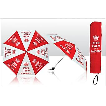 Union Jack Wear Keep Calm It's Raining Umbrella
