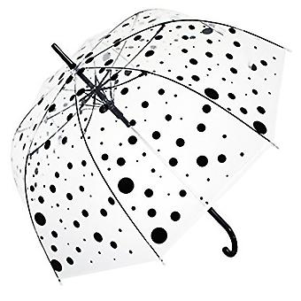 Straight Clear Umbrella (Black Polka)