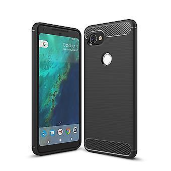 Google pixel XL 2 TPU case carbon fiber optics brushed protective case black