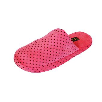 Coolers Womens Spot Printed Fleece Lined Mule Slippers