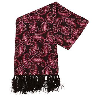 Knightsbridge corbatas Paisley aviador la bufanda de seda - morado