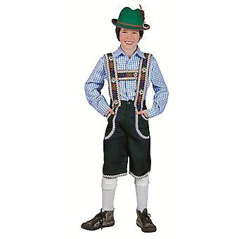 Trajes de los niños pantalones de tirolés para niños Anton