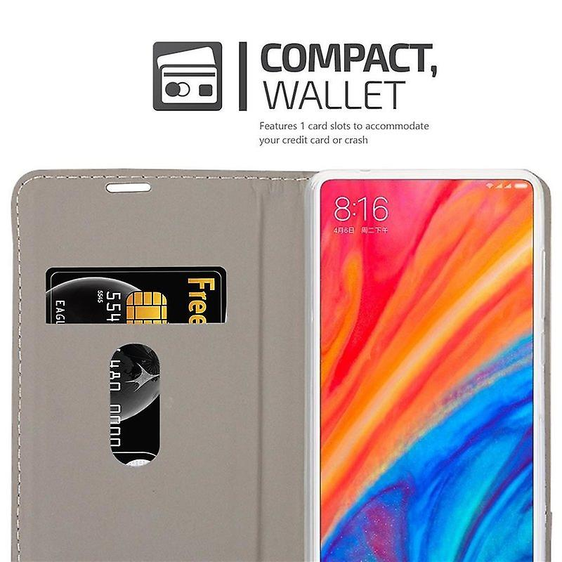 Cadorabo case for Xiaomi MIX 2S - mobile case with stand function and compartment in the fabric design - case cover sleeve pouch bag book