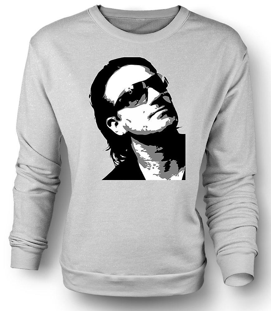 Mens Sweatshirt Bono U2 - BW