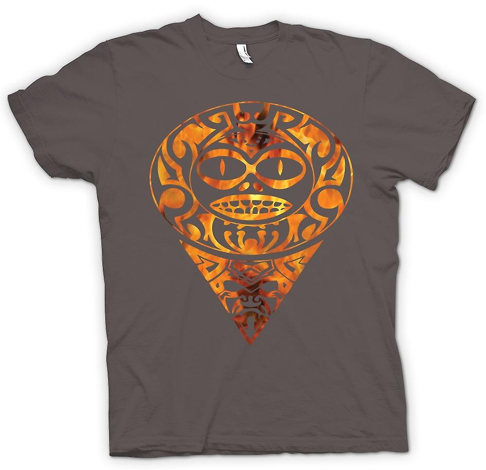 Mens t-skjorte - Aztec tatovering flammer - Tribal