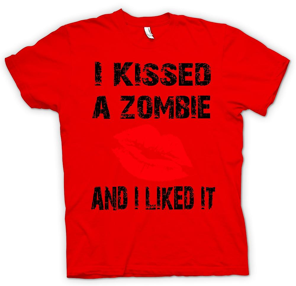 Mens T-shirt - I Kissed A Zombie And I Liked It