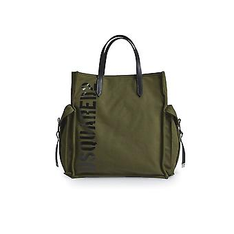 DSQUARED2 RYAN CANVAS MILITARY TOTE BAG