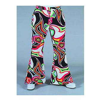 Men costumes  Hippie/disco pants with fantasy print
