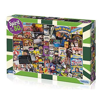 Gibsons Spirit of the 80s Jigsaw Puzzle, 1000 piece