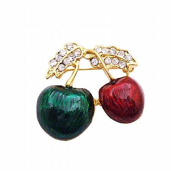 Perfect Decoration Birthday Wedding Cakes Hand Painted Cherry Brooch