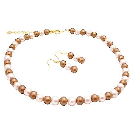 Match Your Jewelry Bridesmaid Dress Fashion Jewelry Gold Ivory Pearls